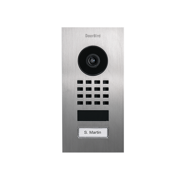 DoorBird IP Video Türstation D1101V Unterputz, Edelstahl V2A, gebürstet, Unterputzmontage