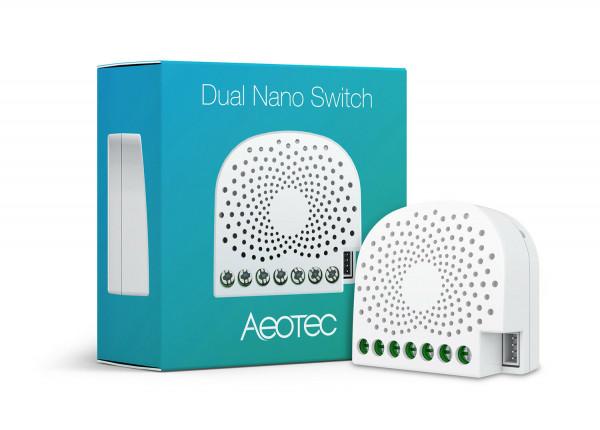 Aeotec 2-fach Nanoschalter mit Energiemessung, Z-Wave Plus