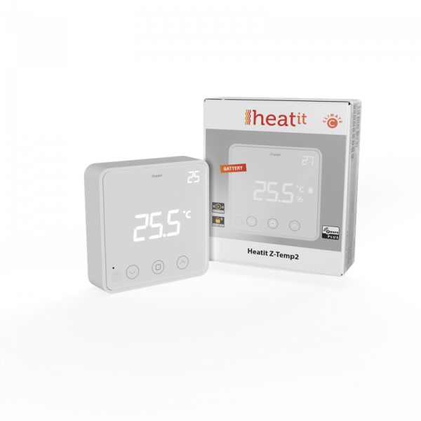 Heatit Z-Temp2 Thermostat (batteriebetrieben), Z-Wave Plus