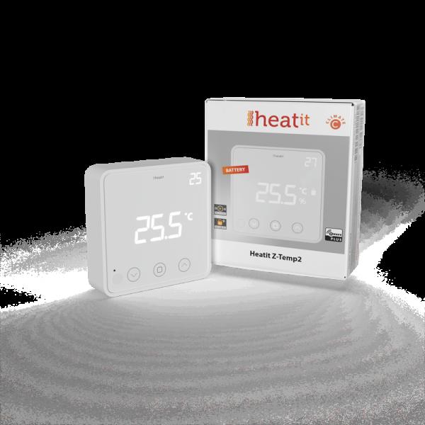 Heatit Z-Temp2 Thermostat (batteriebetrieben), Z-Wave Plus