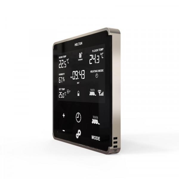 HELTUN - Z-Wave+ Thermostat mit Glasfront-Schwarz/Silber