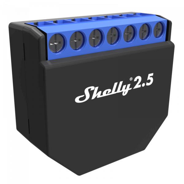 Shelly 2.5, Relais mit Strommessung