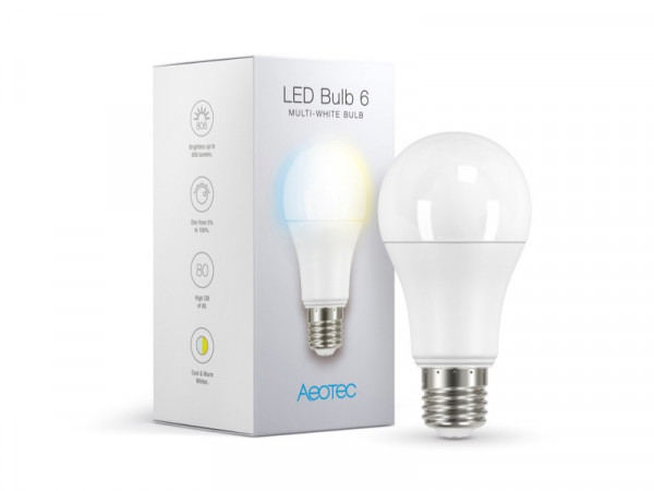 AEOTEC LED Bulb 6 Multi-White (E27). Z-Wave Plus