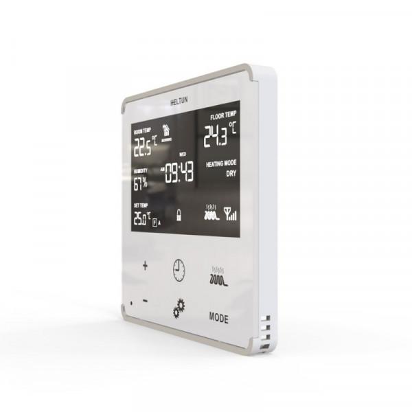 HELTUN - Z-Wave+ Thermostat mit Glasfront-Weiß