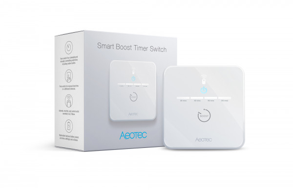 Aeotec Smart Boost Timer Switch, Z-Wwave Plus