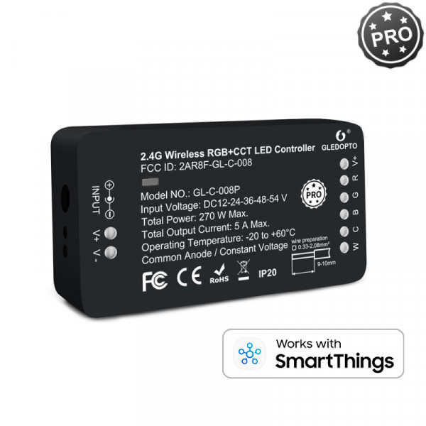 Steuergerät für RGB + CCT LED Bänder, Zigbee